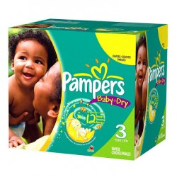 Maxi giga pack 348 Couches Pampers Baby Dry taille 3 sur 123 Couches