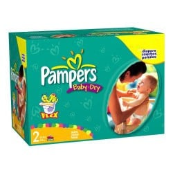 Mega pack 116 Couches Pampers Baby Dry taille 2