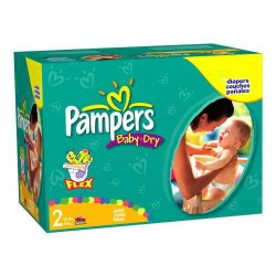 Mega pack 116 Couches Pampers Baby Dry taille 2 sur 123 Couches