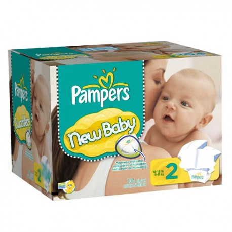 Pack jumeaux 580 Couches Pampers Baby Dry taille 2 sur 123 Couches