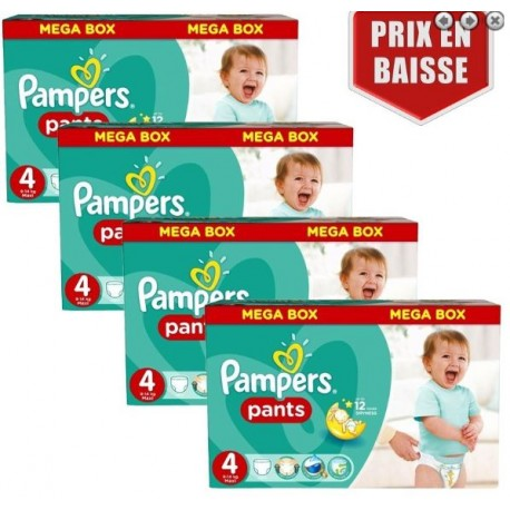 Pack jumeaux 704 Couches Pampers Baby Dry Pants taille 4 sur 123 Couches