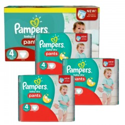Pack jumeaux 1144 Couches Pampers Baby Dry Pants taille 4 sur 123 Couches