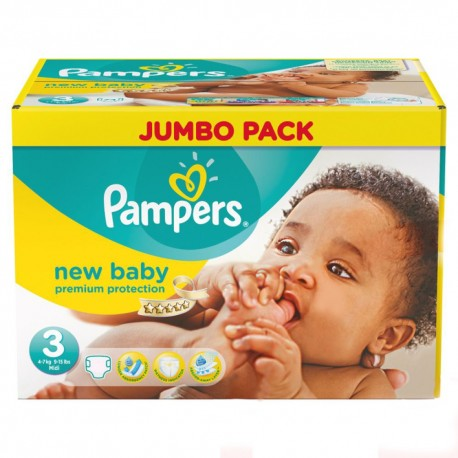 Mega pack 160 Couches Pampers New Baby Premium Protection taille 3 sur 123 Couches