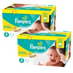 Maxi giga pack 360 Couches Pampers New Baby Premium Protection taille 3 sur 123 Couches
