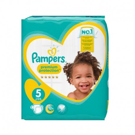 Pack 68 Couches Pampers New Baby Premium Protection taille 5 sur 123 Couches