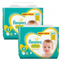 Maxi giga pack 360 Couches Pampers New Baby Premium Protection taille 4 sur 123 Couches