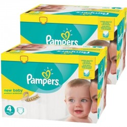 Pack jumeaux 504 Couches Pampers New Baby Premium Protection taille 4 sur 123 Couches