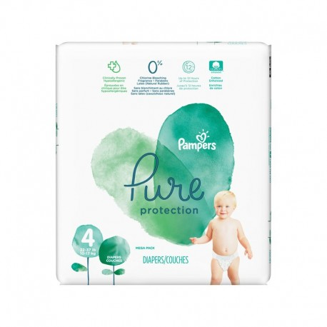 Pack 28 Couches Pampers Pure Protection taille 4 sur 123 Couches