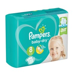 Pack 28 Couches Pampers Baby Dry taille 8 sur 123 Couches