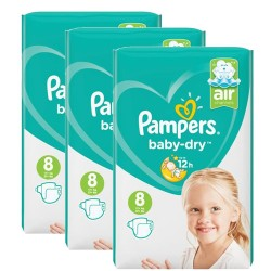Mega pack 168 Couches Pampers Baby Dry taille 8 sur 123 Couches