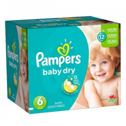 Pack jumeaux 768 Couches Pampers Baby Dry taille 6 sur 123 Couches