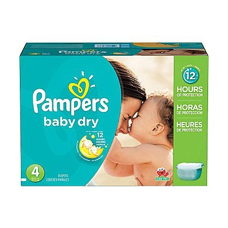 Pack 50 Couches Pampers Baby Dry taille 4 sur 123 Couches
