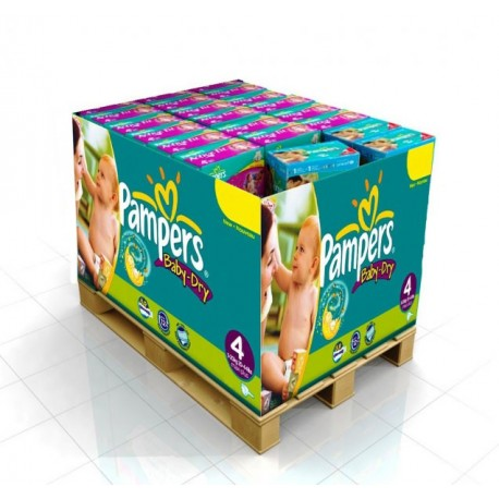 Giga pack 200 Couches Pampers Baby Dry taille 4 sur 123 Couches
