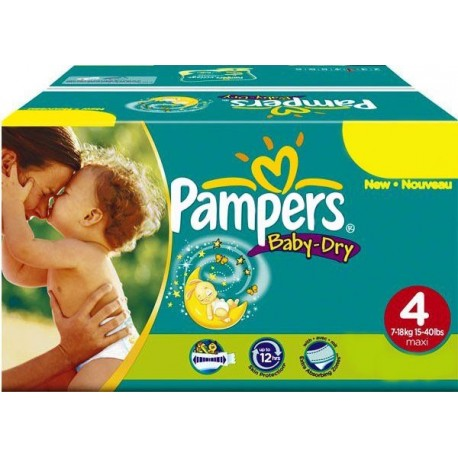 Maxi mega pack 400 Couches Pampers Baby Dry taille 4 sur 123 Couches