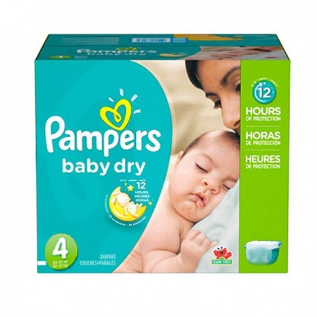 Pack jumeaux 600 Couches Pampers Baby Dry taille 4 sur 123 Couches