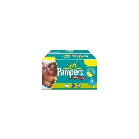 Mega pack 195 Couches Pampers Baby Dry taille 5 sur 123 Couches