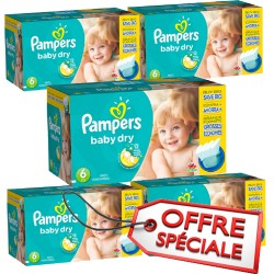 Pack 38 Couches Pampers Baby Dry taille 6
