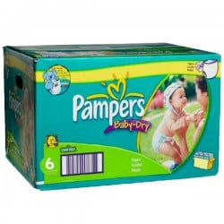 Pack 95 Couches Pampers Baby Dry taille 6