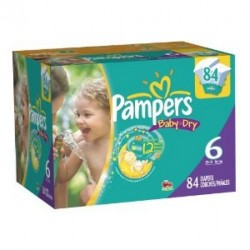 Mega pack 114 Couches Pampers Baby Dry taille 6