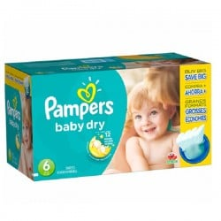 Giga pack 247 Couches Pampers Baby Dry taille 6