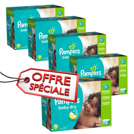 Mega pack 155 Couches Pampers Baby Dry taille 5 sur 123 Couches
