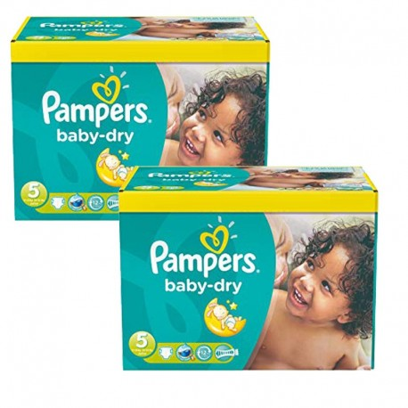 Mega pack 186 Couches Pampers Baby Dry taille 5 sur 123 Couches