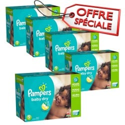 Giga pack 248 Couches Pampers Baby Dry taille 5