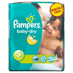Giga pack 279 Couches Pampers Baby Dry taille 5