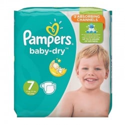 Pack 29 Couches Pampers Baby Dry taille 7 sur 123 Couches