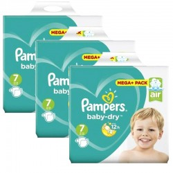 Mega pack 145 Couches Pampers Baby Dry taille 7 sur 123 Couches