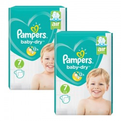 Giga pack 203 Couches Pampers Baby Dry taille 7 sur 123 Couches