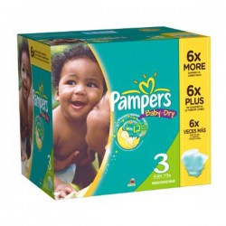 Pack 90 Couches Pampers Baby Dry taille 3 sur 123 Couches
