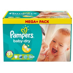 Maxi giga pack 390 Couches Pampers Baby Dry taille 3