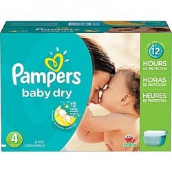 Maxi mega pack 490 Couches Pampers Baby Dry taille 4 sur 123 Couches