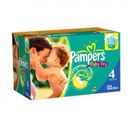 Pack jumeaux 539 Couches Pampers Baby Dry taille 4 sur 123 Couches