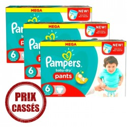 Pack 38 Couches Pampers Baby Dry Pants taille 6 sur 123 Couches