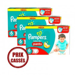 Giga pack 209 Couches Pampers Baby Dry Pants taille 6 sur 123 Couches