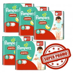 Giga pack 228 Couches Pampers Baby Dry Pants taille 6 sur 123 Couches