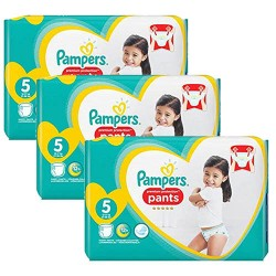 Giga pack 210 Couches Pampers Premium Protection Pants taille 5 sur 123 Couches