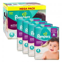 Pack jumeaux 800 Couches Pampers Active Fit Pants taille 4