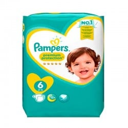Pack 64 Couches Pampers Premium Protection taille 6 sur 123 Couches