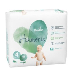 Pack 19 Couches Pampers Harmonie taille 4 sur 123 Couches