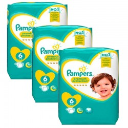 Mega pack 192 Couches Pampers Premium Protection taille 6 sur 123 Couches