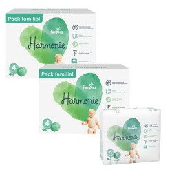 Mega pack 190 Couches Pampers Harmonie taille 4