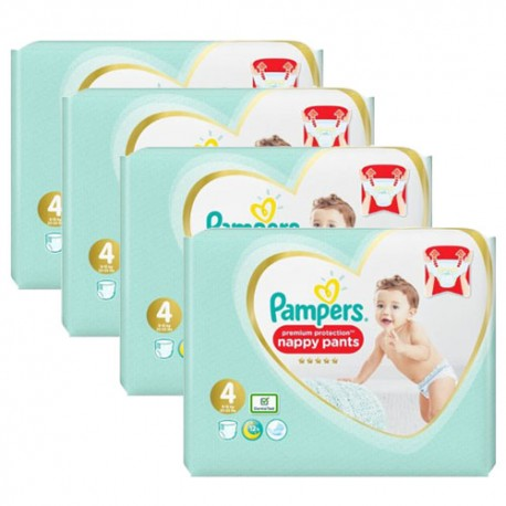 Giga pack 235 Couches Pampers Premium Protection Pants taille 4 sur 123 Couches