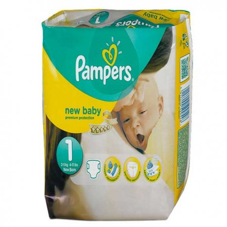 Pack 22 Couches Pampers Premium Protection taille 1 sur 123 Couches