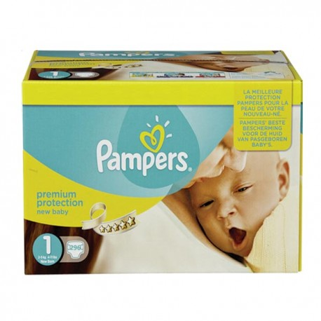 Pack 88 Couches Pampers Premium Protection taille 1 sur 123 Couches