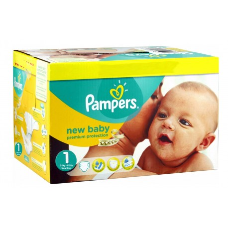 Mega pack 110 Couches Pampers Premium Protection taille 1 sur 123 Couches