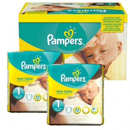 Giga pack 286 Couches Pampers Premium Protection taille 1 sur 123 Couches