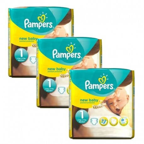 Maxi giga pack 308 Couches Pampers Premium Protection taille 1 sur 123 Couches